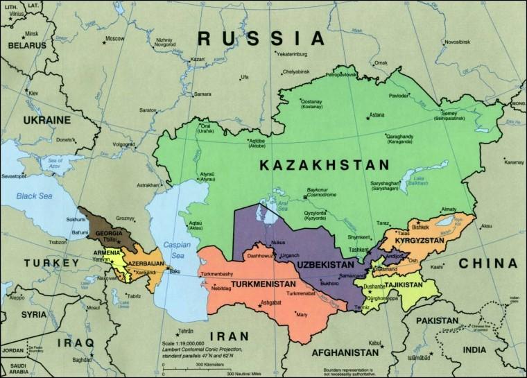Geopolitika U Mapama Centralna Azija I Razlozi Mogucih Sukoba