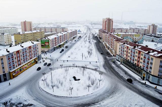 Norilsk snow